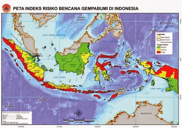Wilayah Rawan Bencana Alam Gempa Bumi Bali