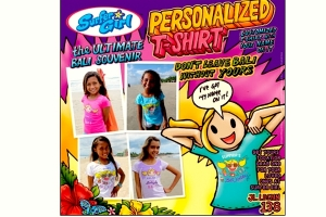 Surfer Girl's Personalized T-SHIRT