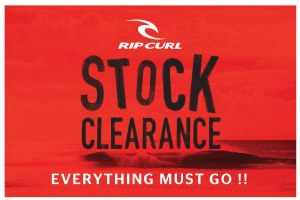 RIP CURL STOCK CLEARANCE DI SUNSET ROAD